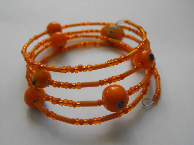 bracelet fil mémoire orange