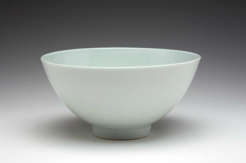Bowl with incised lotus scrolls, Ming dynasty (1368-1644), Xuande six-character mark and of the period (1426-1435)