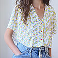Cousette patterns - chemisier florette