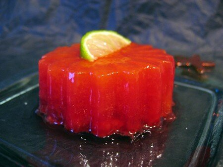 Timbale aux framboises et agrumes