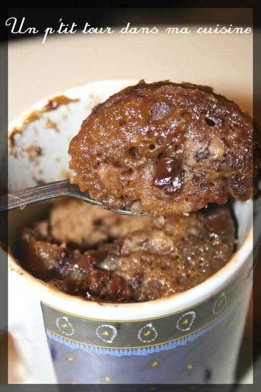 Mug cake praliné3