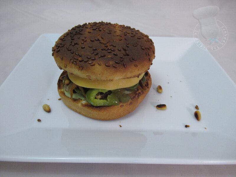 Burger mozza poivron