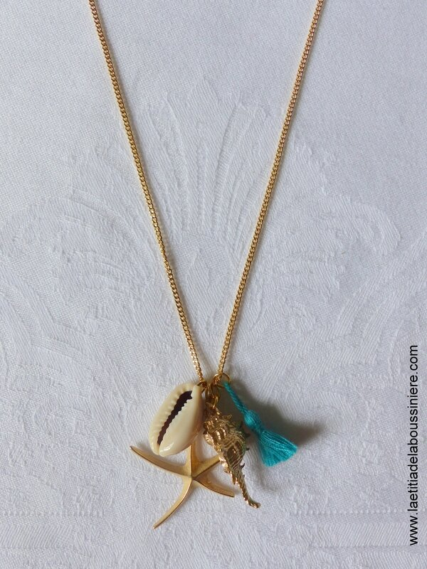 Sautoir Bora-Bora (turquoise) - 21 €