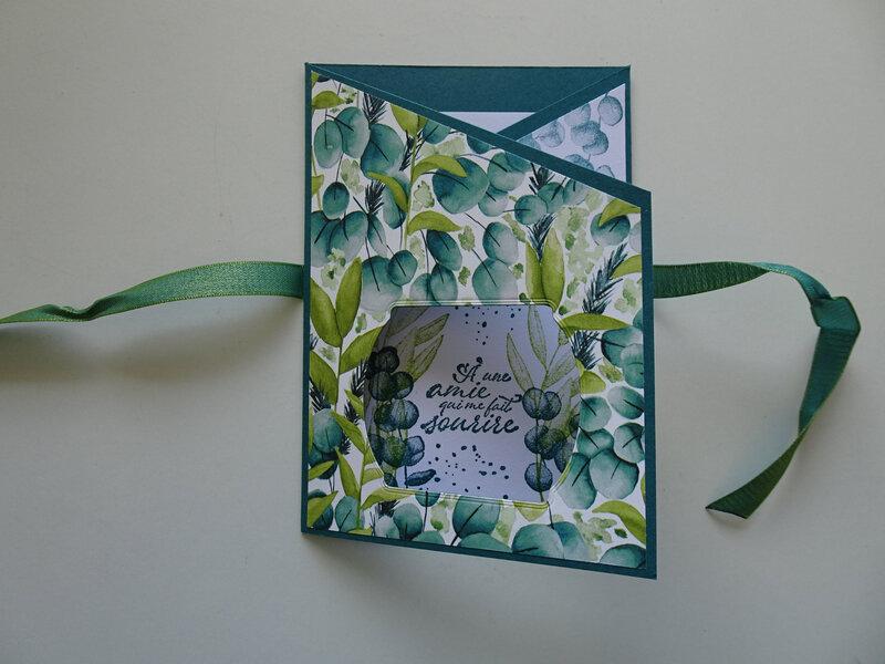 7c Carte Triptyque Pour une amie qui me fait sourire