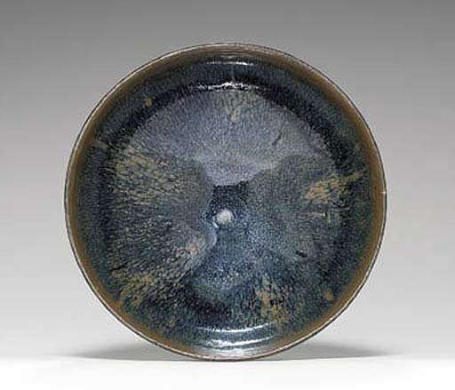 A large russet-splashed blackish-brown-glazed bowl, Jin dynasty, 12th-13th century