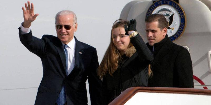 Joe Biden with son Hunter 2