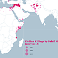 Over 9,000 civilians killed by Salafi-Jihadist militant groups, 2017-2018