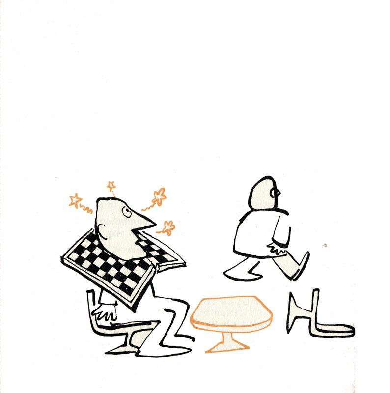 Je joue mieux aux échecs 120 illustration Lucien Meys