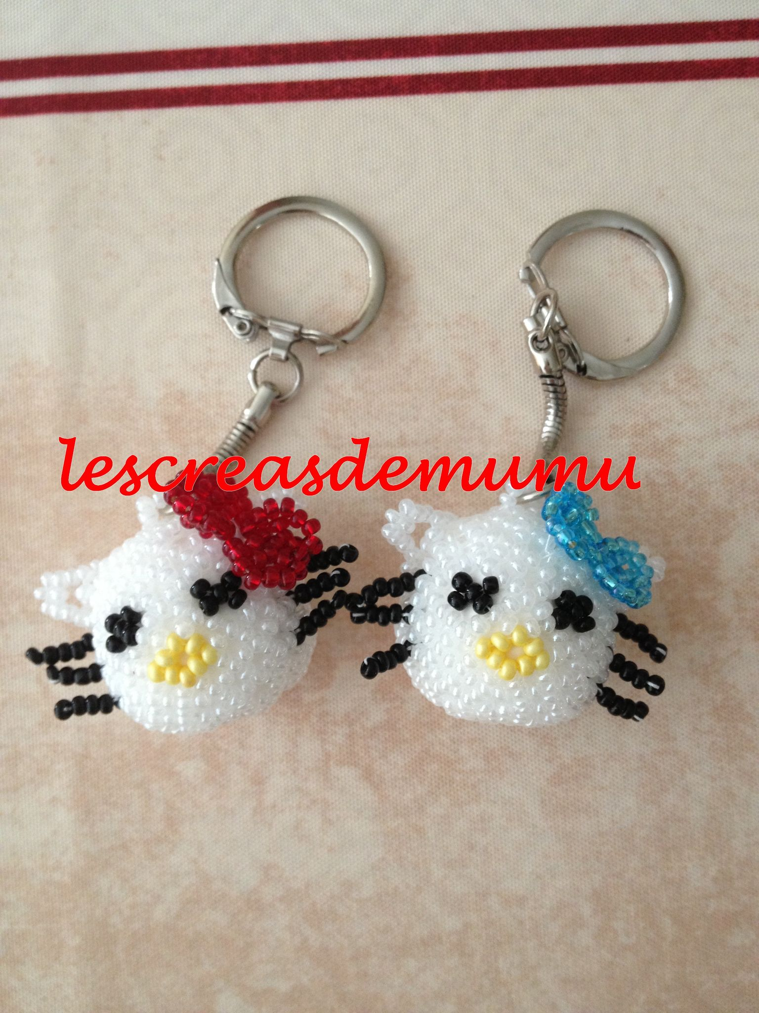 Porte-clé Hello kitty (créa perso)