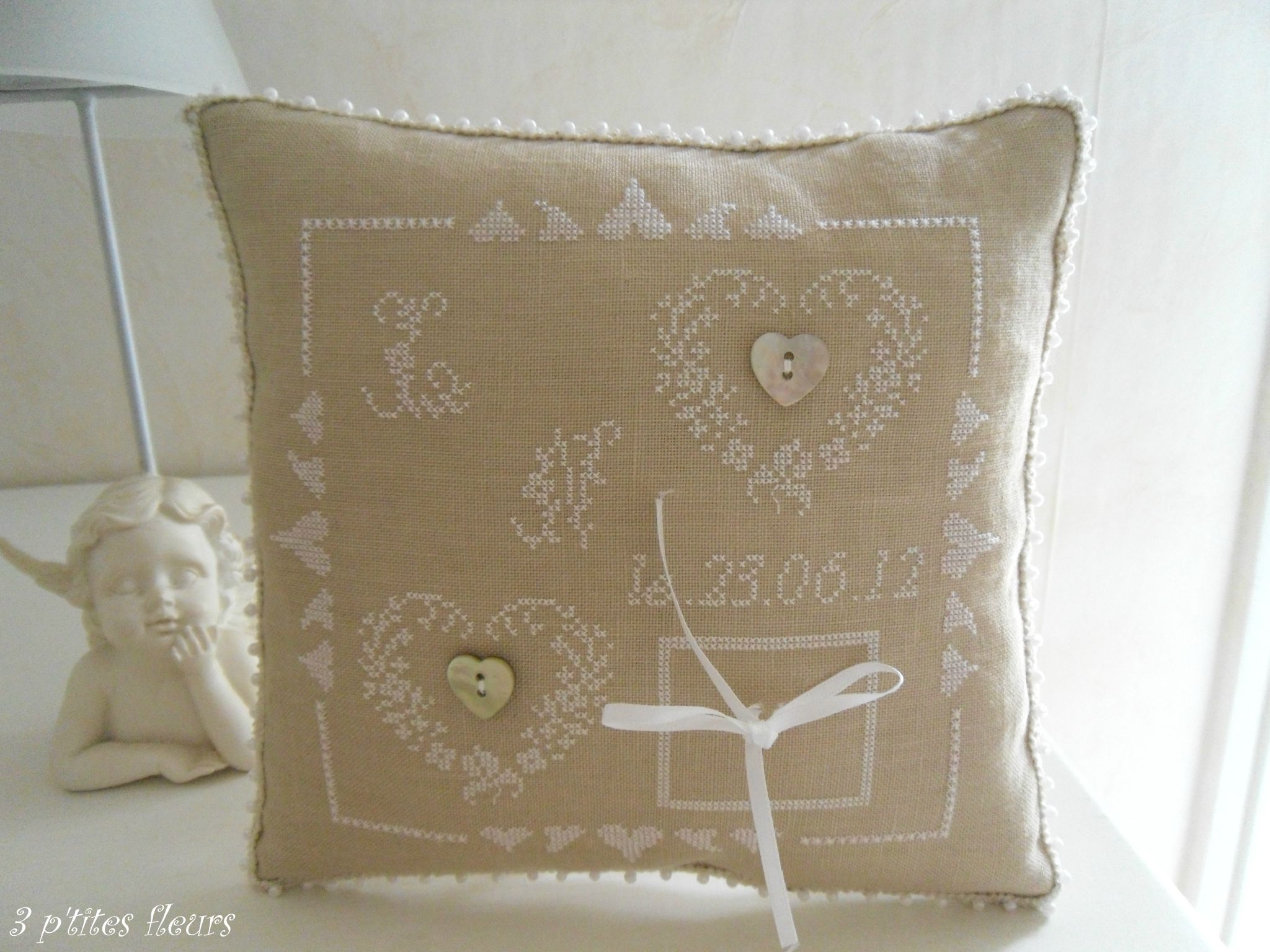 coussin mariage pour ma fille Laura
