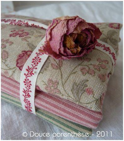 Tissus et rose