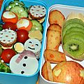 Lunchbox/bento #39 bonhomme de neige