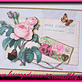 Carte 3d shabby - post card