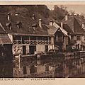 Maiche, l'isle-sur-le-doubs vieilles maisons carte postale ancienne
