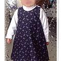 Une petite robe trapèze pour ma princesse !