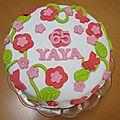 Gâteau d'anniversaire en pâte à sucre...