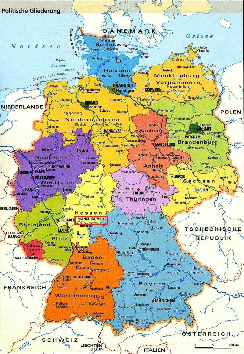 Carte Allemagne Avec Les Villes.Les Francs A Frankfurt Am Main Francfort Sur Le Main
