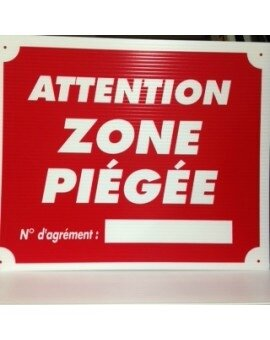 707800 pancarte attention zone piégée