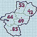 Point de croix et broderie machine : région : pays de loire