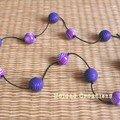 Sautoir violet Annie