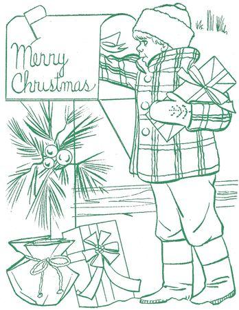 under_the_christmas_tree_merry_christmas_boy_letter_box_joyeux_noel_gar_on_boite_a_lettre_vert