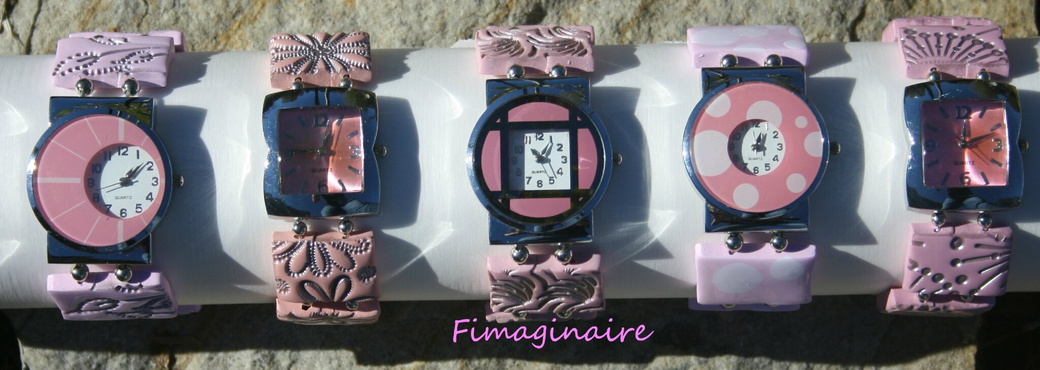 Montres roses - 25$ chacune