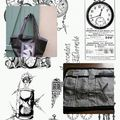 page sac noir blanc