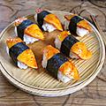 Kimchi de mangue et ses sushis