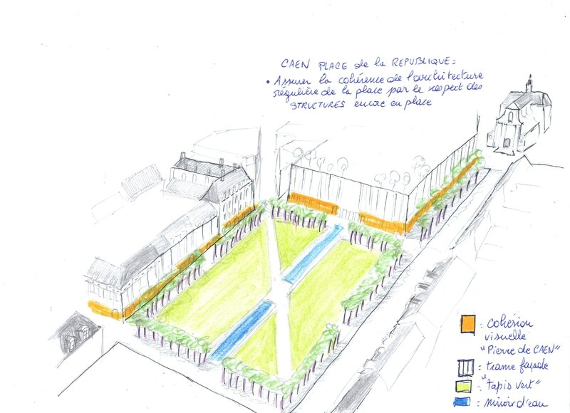 projet structural place de la République Caen
