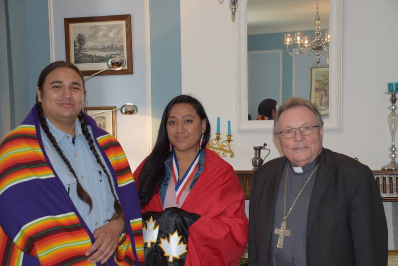 Montauban, mardi 7 mai 2019 : Mgr Ginoux reçoit Christopher Cote et Jordan Cocker