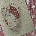 coeur patchwork rose lettre