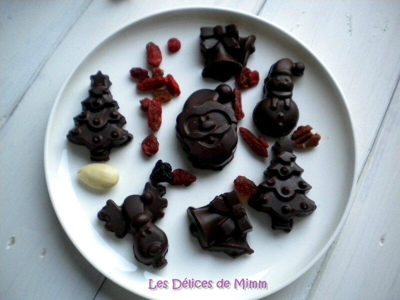 Petits chocolats de Noël aux fruits secs2