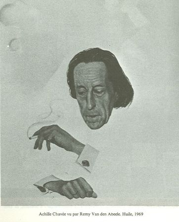 Achille Chavée par Remy Van den Abeele Huile 1969