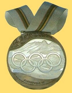 JO 1992 Albertville 3 Médailles Bronze