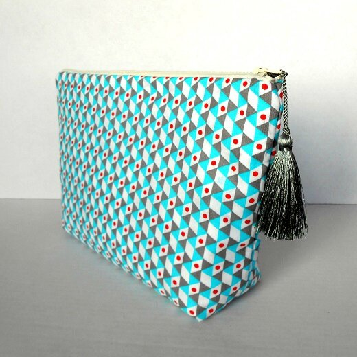 Trousse toilette triangles bleu-gris1