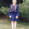 Défilé du lin 2004, Ophélie porte un ensemble jupe taillée ds le biais, veste volantée, création perso