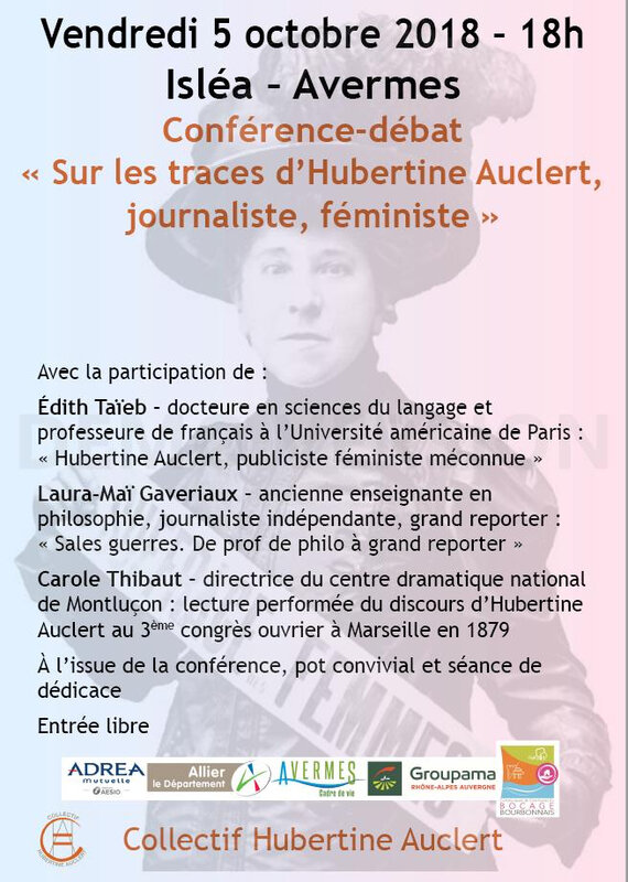 CONFERENCE HUBERTINE AUCLERT 5 OCT 2018