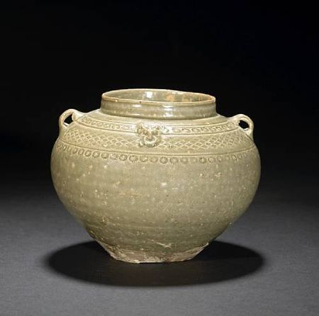 A_small_celadon_glazed_stoneware_jar