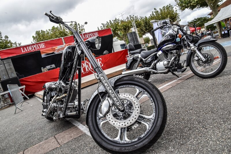 Chopper et Suzuki Intruder