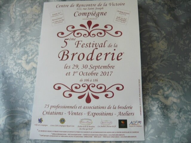 COMPIEGNE festival broderie 2017