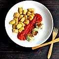 Gnudis d'épinards et gnocchis de pommes de terre