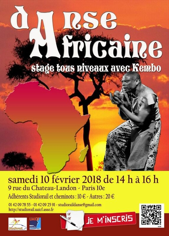 studiorail affiche stage danses africaines 2018