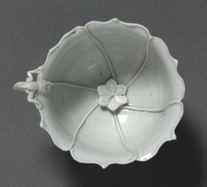 Fluted Cup with Dragon Handle, Qingbai Ware, early 14th Century, China, Jiangxi province, Jingdezhen kilns, Yuan dynasty