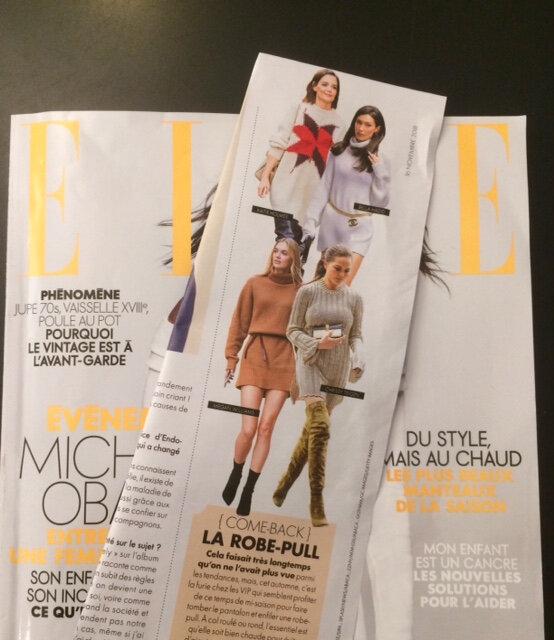 retour de la robe pull ELLE du 16 Novembre 2018 boutique Avant Après Montpellier