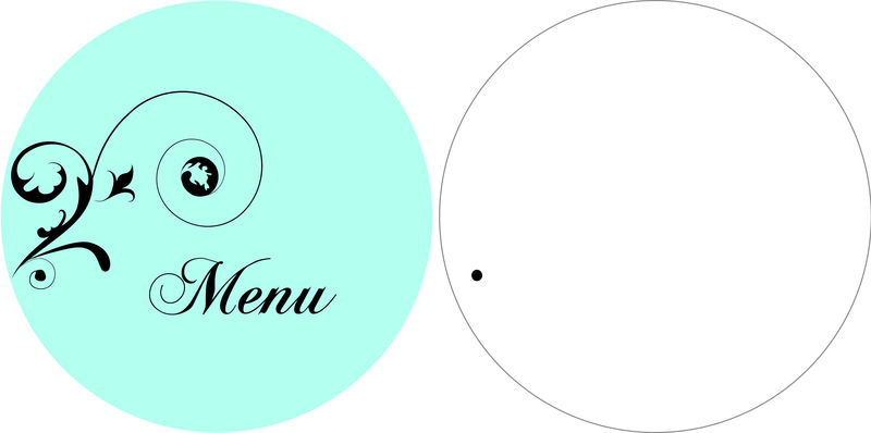 Menus ronds bleu tiffany