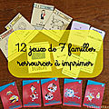 12 jeux de 7 familles - ressources à imprimer