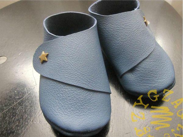 chaussons croisés cuir