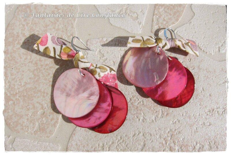 BO trois nacres roses Kaylie Sunshine rose