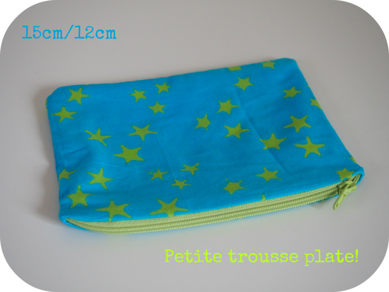 trousse plate turquoise