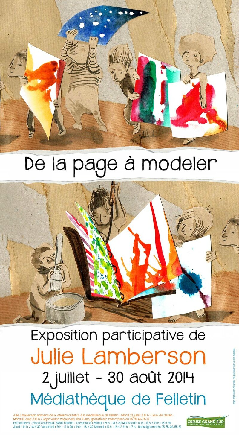 Affiche-expo-Julie-LAMBERSON-red
